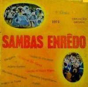 foto da capa do cd sambas de enredo 1971 grupo especial carnaval do Rio de Janeiro