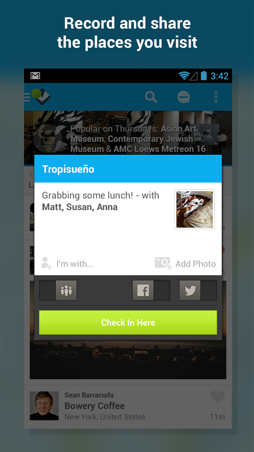 Foursquare Android Apk resimi 1
