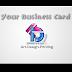 Business Card- Aqueous Coating untuk penjimatan berganda.