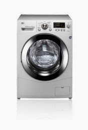 white lg wm3455hw front load washer dryer combo with rpm