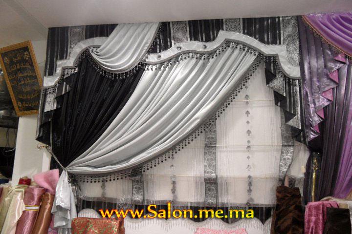rideaux marocain rideau de fer salons marocain moderne 2013 - Rideaux Pour Salon Noir Blanc