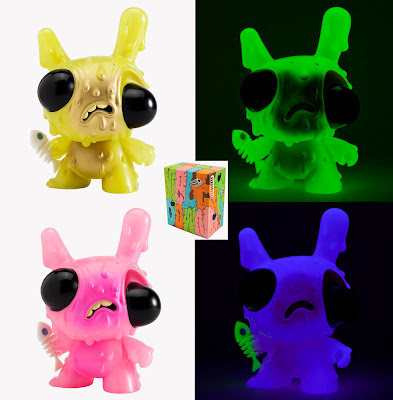"Meltdown Glow in the Dark 8"" Dunny by Chris Ryniak - Green and Pink Editions"