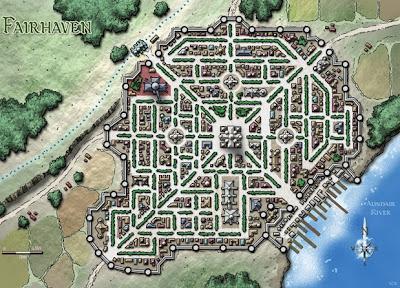 mapa de Fairhaven