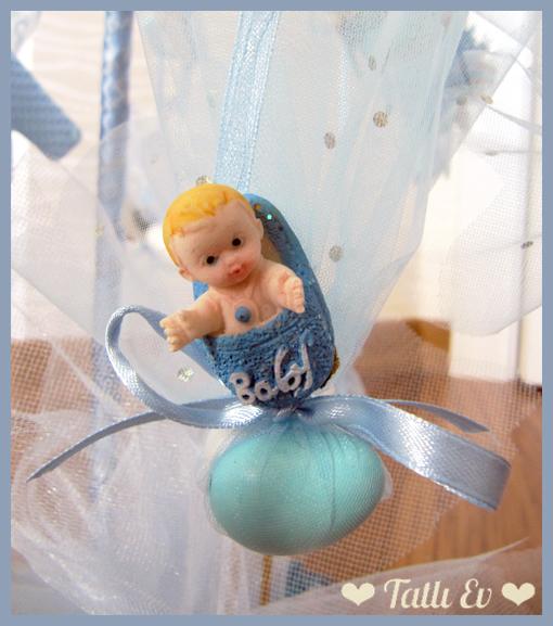 Erkek Bebek Şeker Ağacı Süslemesi