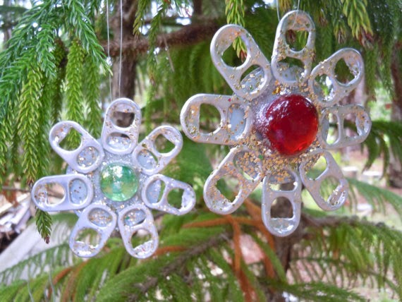 Christmas tree decorations made from recycled materials christmas