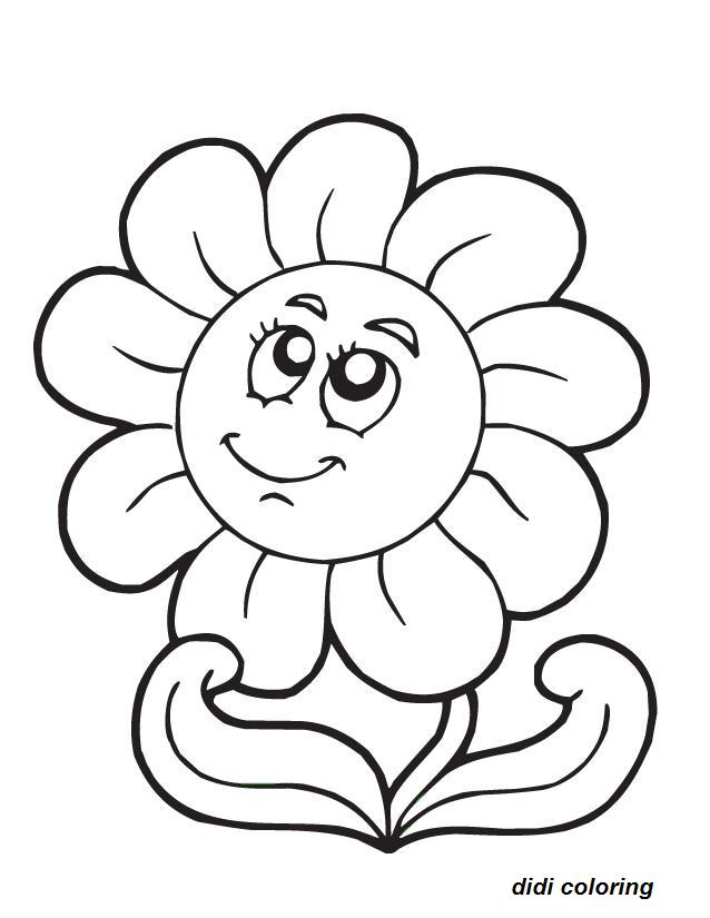 Printable Flower Pictures To Color Beautiful Flowers Printable Flowers Coloring Pages