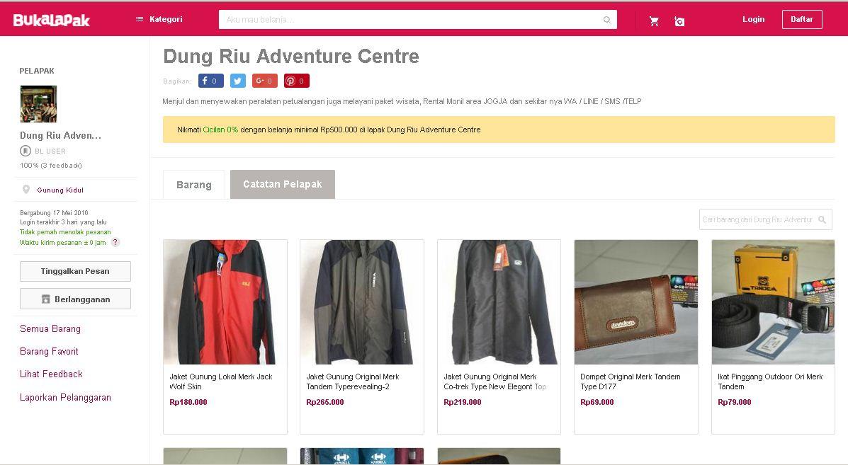 Anda juga bisa belanja di Toko Online Kami via Bukalapak.com