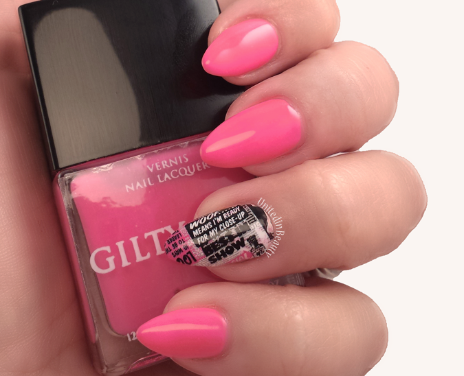 Neon Barbie Pink Nails by @UnitedinBeauty