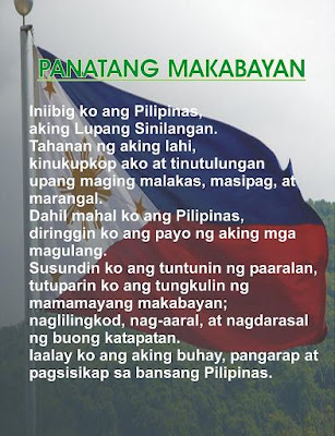 Say tsot Say say Dati Bago at Proposal na Panatang Makabayan