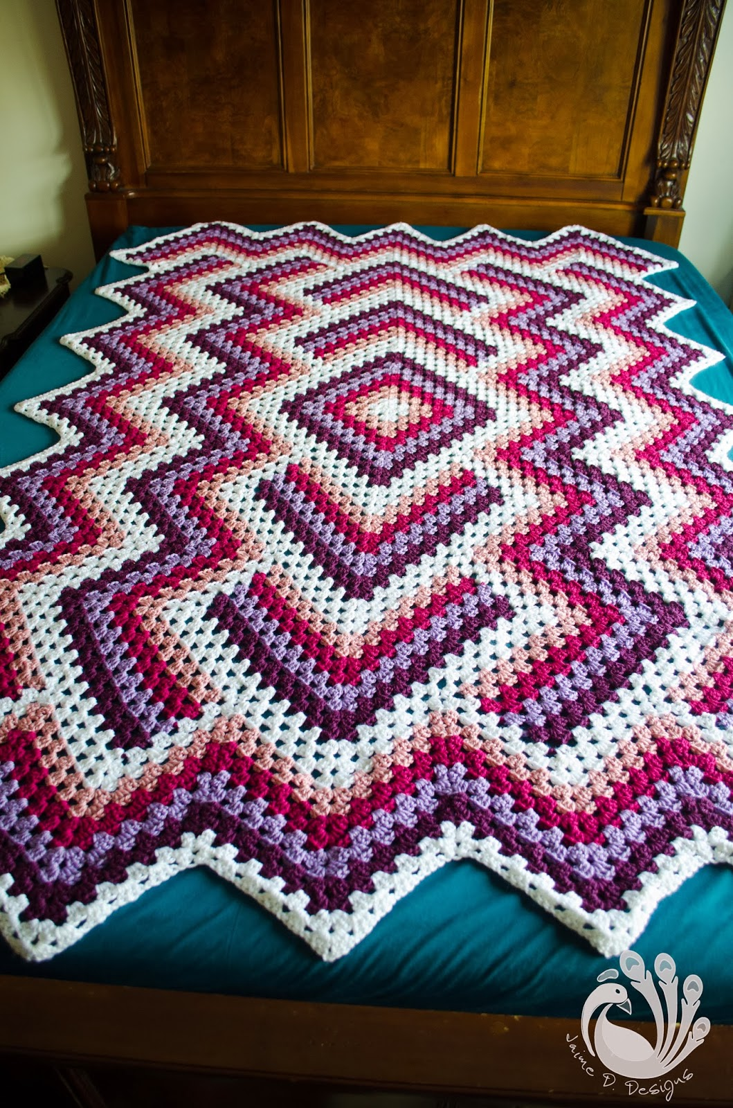 Jaime D. Designs: Drop in the Pond Afghan!