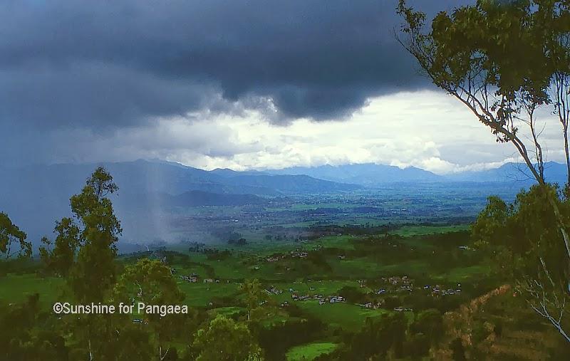 Sky with rain in Nepal