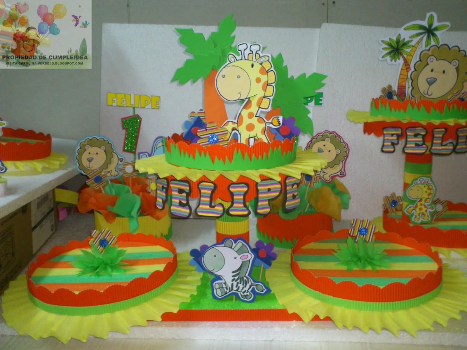 Decoraciones infantiles tematica de la selva for Decoraciones infantiles