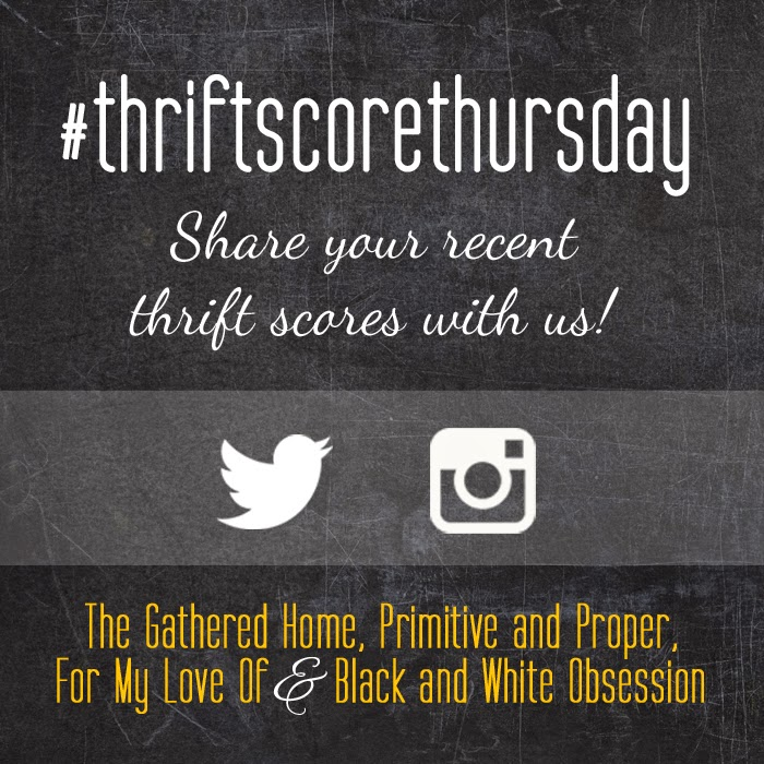 #thriftscorethursday Week 61 | Trisha from Black and White Obsession, Brynne's from The Gathered Home, Cassie from Primitive and Proper, Corinna from For My Love Of, and Guest Poster: Nicole from Design It Vintage