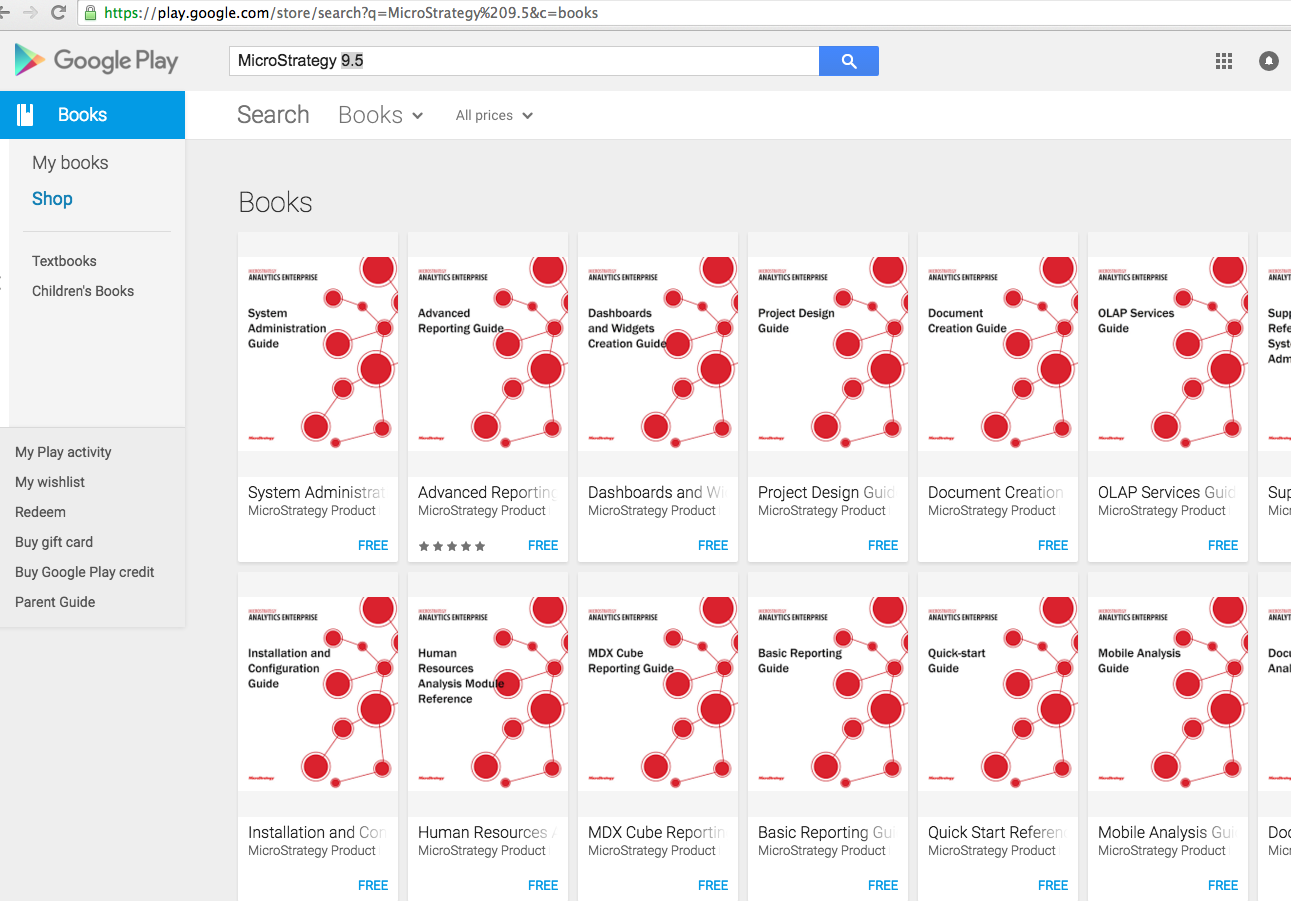 Microstrategy 9 5 Books For Free Download On Google Play