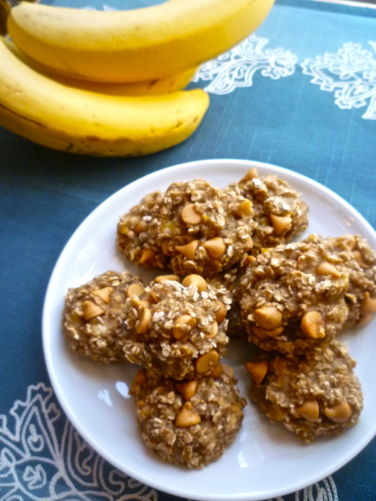 Cookies Made With Bananas Oats And Chocolate Chips
