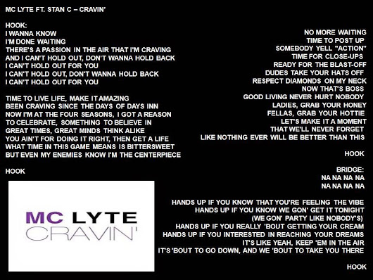 Mc Lyte Ft. Stan C - Cravin'