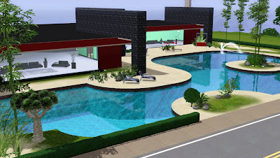 The sims giuly download e tutorial di the sims 3 red modern house - The sims 3 case moderne ...