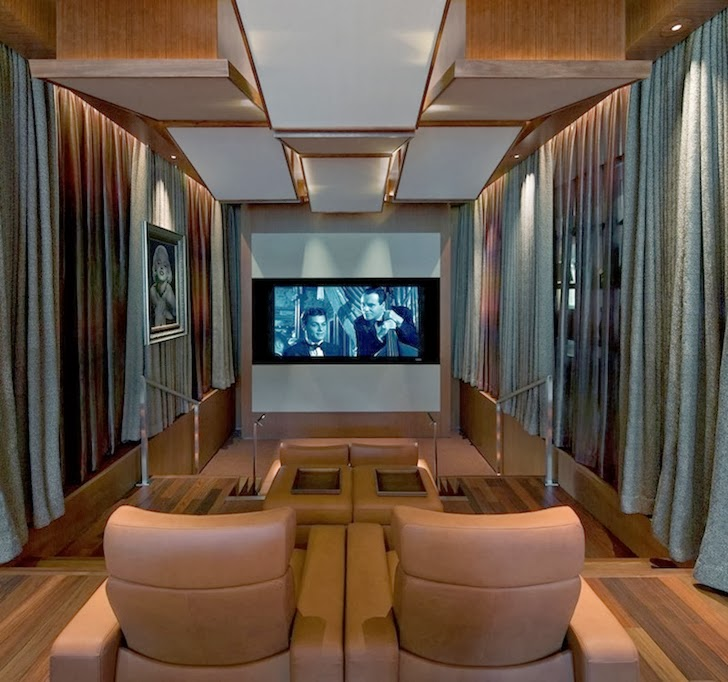 Home theater in Multimillion modern dream home in Las Vegas