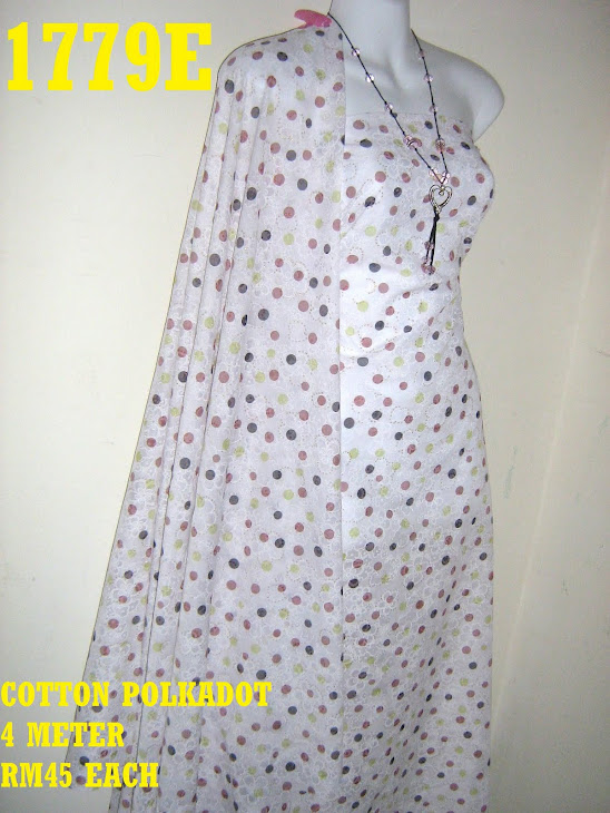 CP 1779E: COTTON POLKADOT, 4 METER