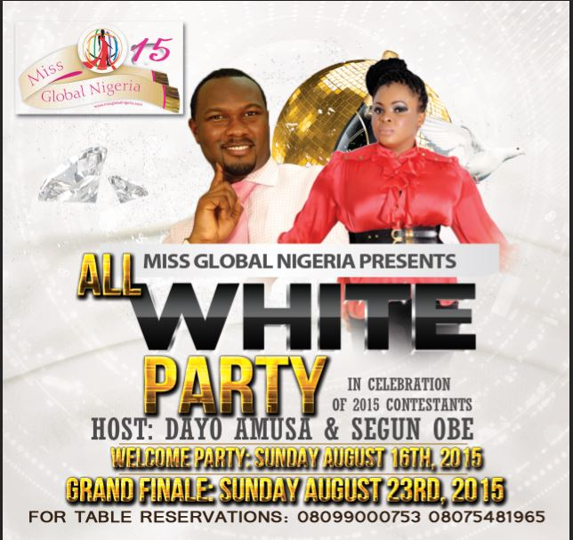 All White for Miss Global Nigeria