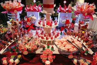 candy bar wedding