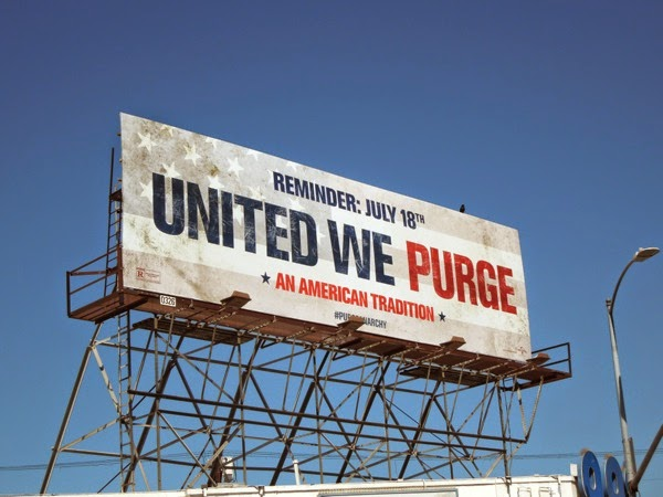 The Purge Anarchy reminder billboard