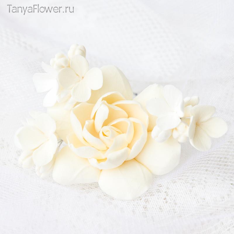 свадебные шпильки для волос с цветами
