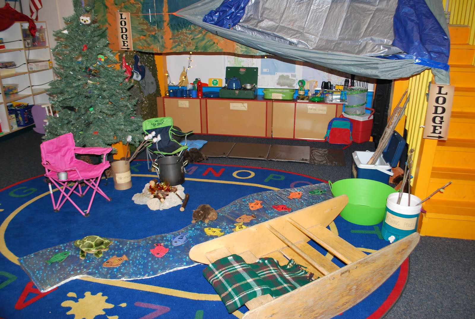 Toddler plastic table and chairs - Preschool Projects Camping And Native American Village