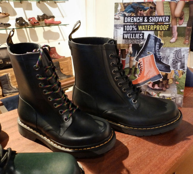 Dr Martens Liverpool One store review Drench wellies
