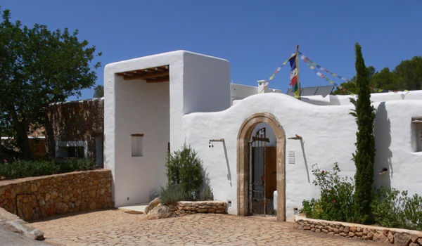 entrada de la casa rural tradicional