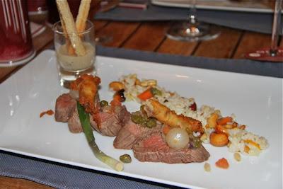 Merlan de carne de res al vapor de La Table du Sommelier. Blog Esteban Capdevila