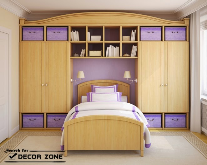 Small Bedroom Storage Ideas Of Furniture   Recessed Shelves
