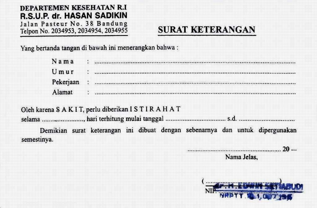 Image Result For Contoh Surat Dokter