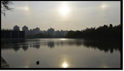 parhelio misterio de los tres soles en china