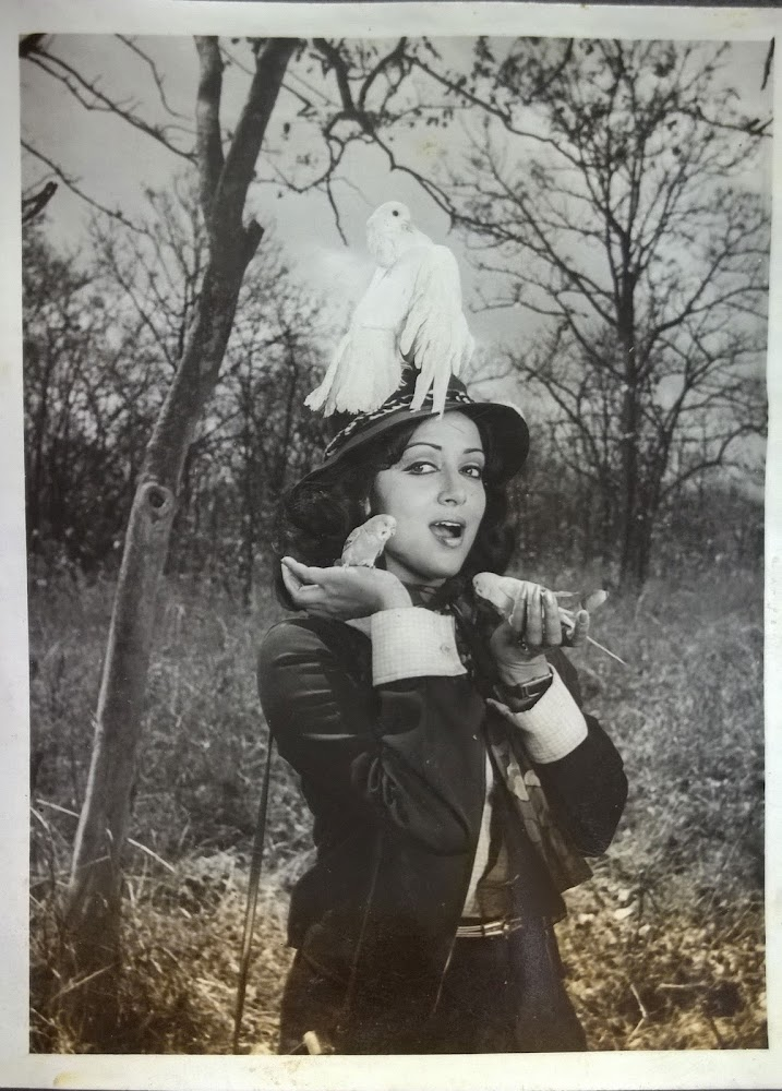 Hema Malini with birds