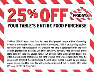 photo relating to Fridays Printable Coupons identify TGI Fridays Printable Discount coupons November 2014