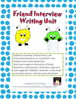 Back to School writing activity for writer's workshop