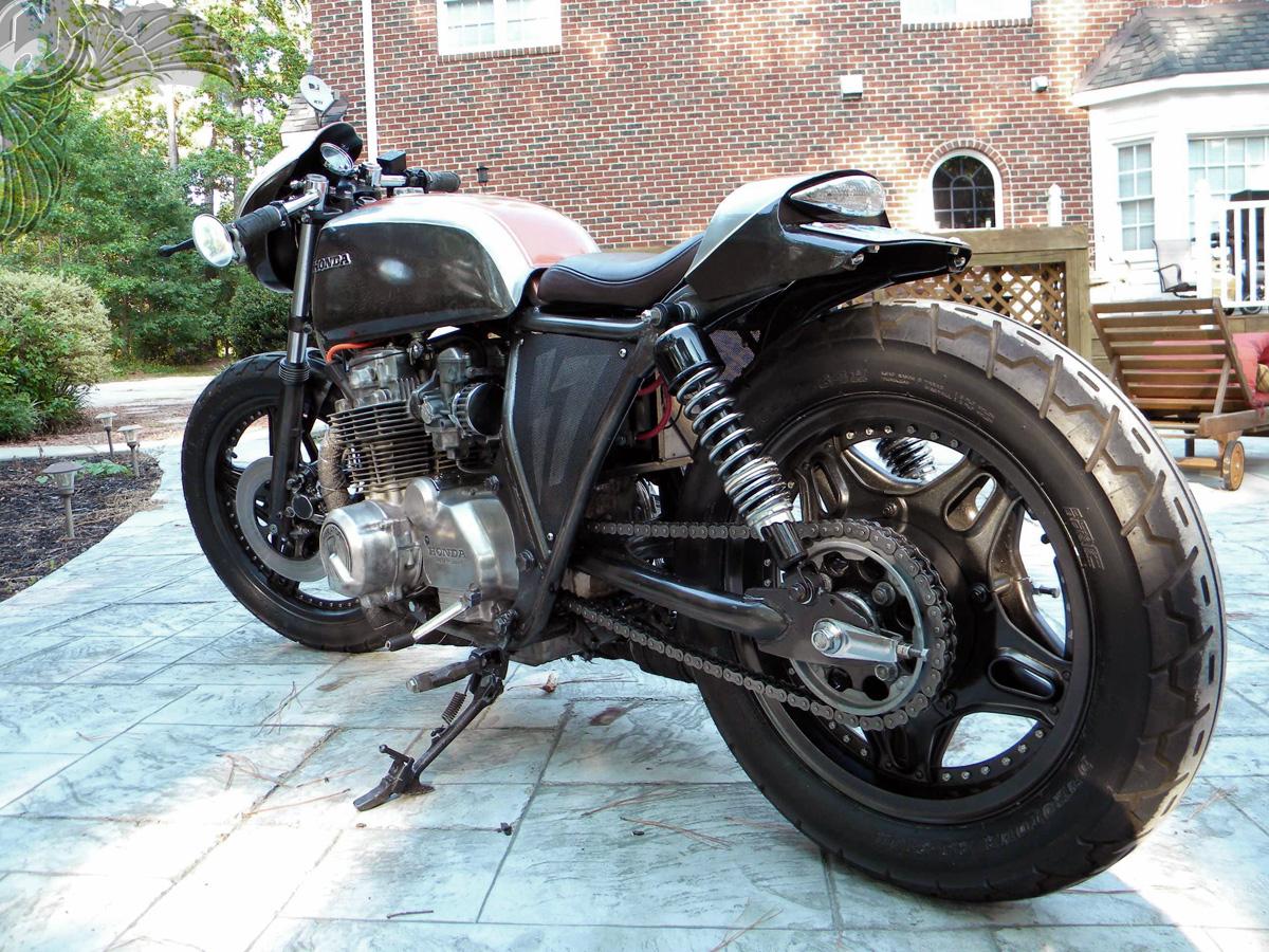 honda cb650 cafe racer - rear