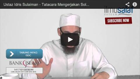 Ustaz Idris Sulaiman – Tatacara Mengerjakan Solat Witir