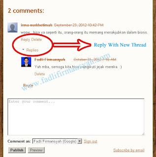 """Cara Buat """"Threaded Comment"""" Untuk Blogspot"""