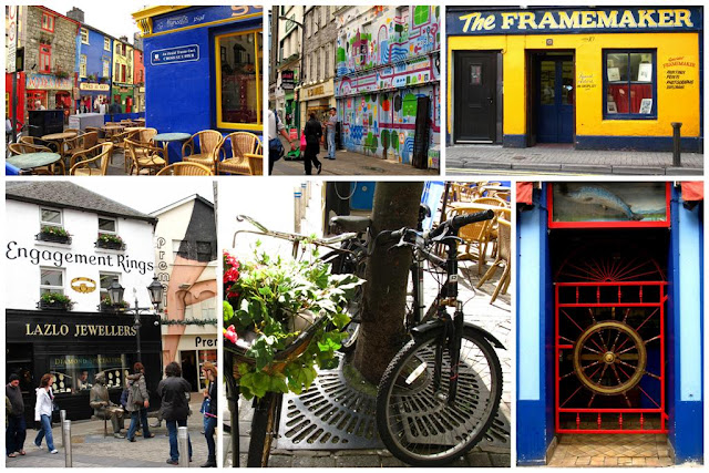 collage with random snaps from Galway city