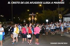 04.09.16 MANISES SALE A LA CALLE A RECIBIR AL CRISTO DE LOS AFLIGIDOS DE RIBARROJA DEL TURIA