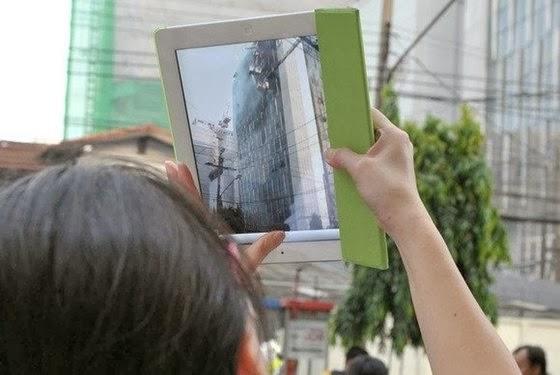 Tirar fotos com um tablet - 560x375