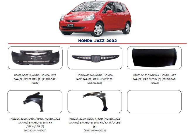 Bemper Honda Jazz 2002