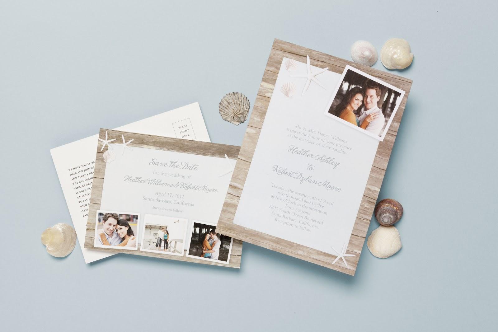 Pretty Destination Wedding Invitations from Wedding Paper Divas