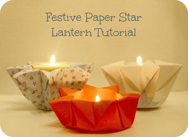 How the sun rose festive paper star lantern tutorial for Paper lantern tutorial