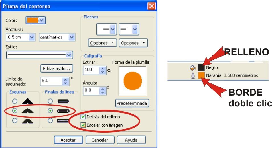 tutoriales de photoshop y coreldraw: Poner borde a un texto en corel ...