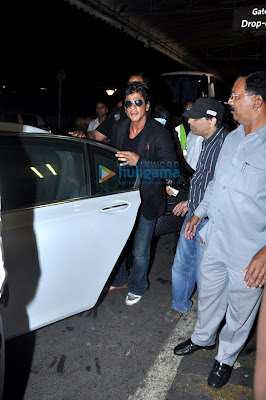 Shahrukh, Asin and others leave for TOIFA Awards - Day 4