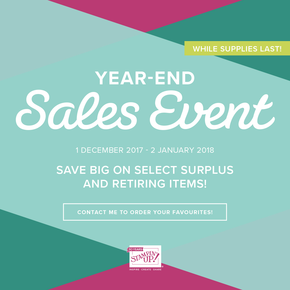 YEAR END SALE FROM 1 DEC - 2 JAN