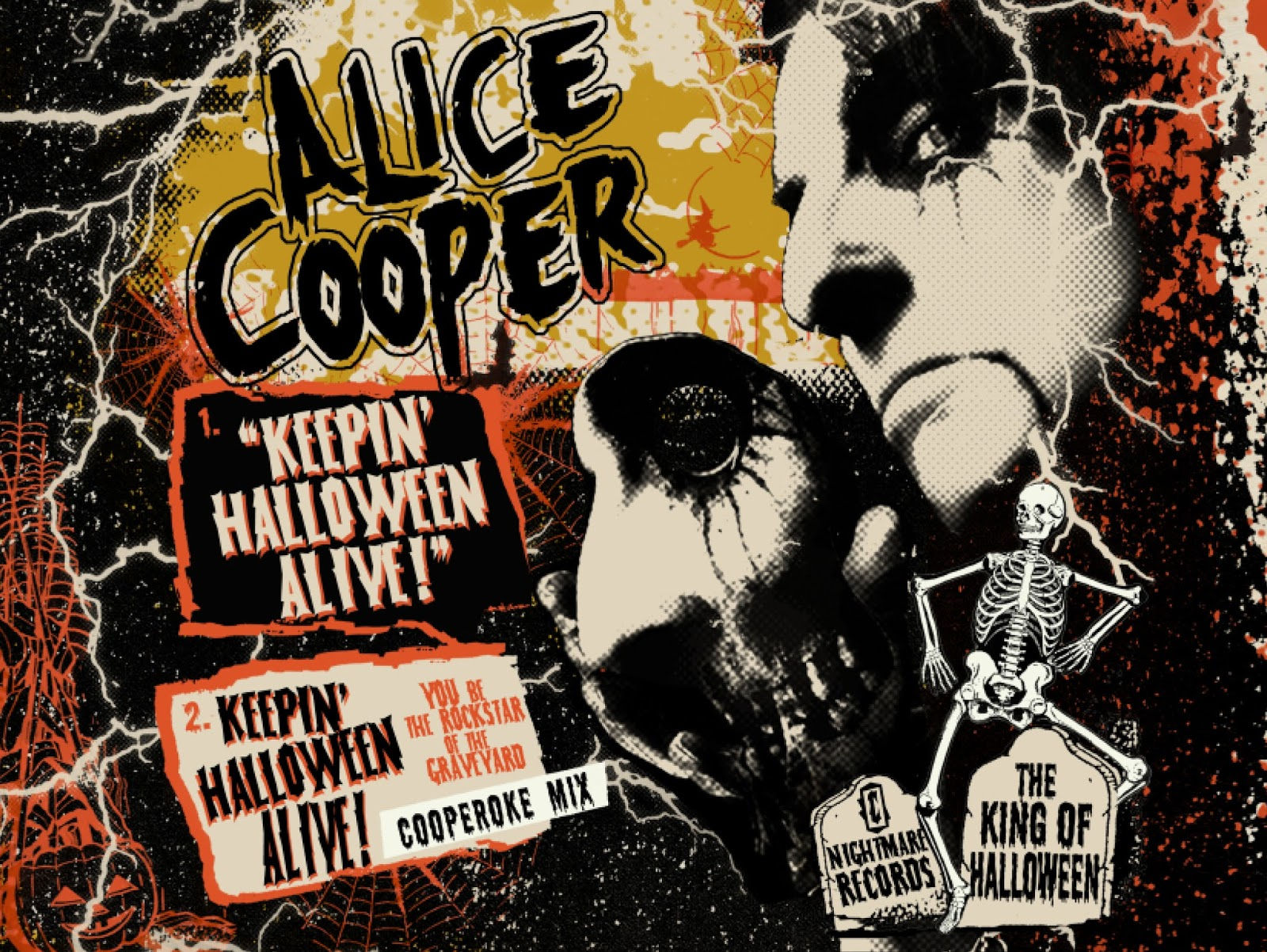 2009 alice cooper keepin halloween alive art and single